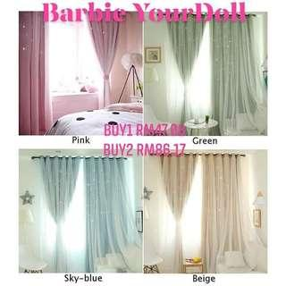 2 Layers Shading Voile CurtainRoom Window Panel
