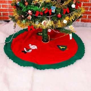 聖誕樹腳圍裙 底座裝飾圍布