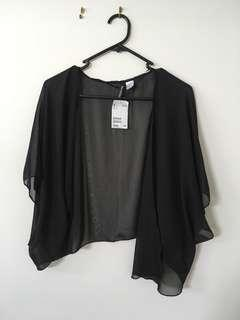Sheer black layer top BNWT