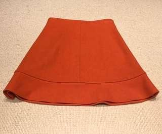 Chole orange wool skirt