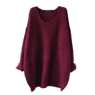 INC POST 🚚 Women Knitted Autumn O-Neck Long Sleeve Top
