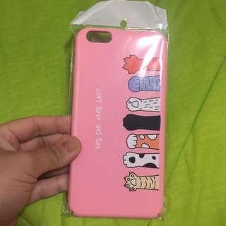 Iphone 6+ Cute Cats Matte Pink Hard Case