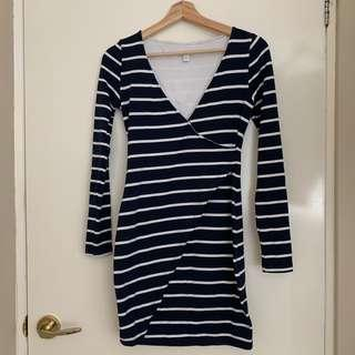 Kookai Size 1 Striped Dress