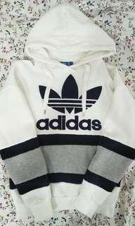 🚚 Adidas 全新刷毛logo 白色帽T