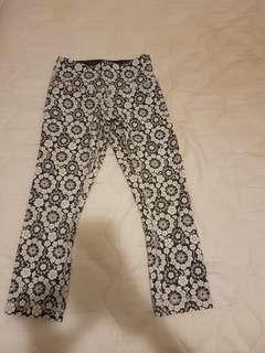 Lululemon Black & White High Times Size 0