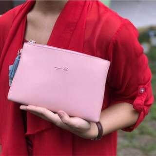 Miniso Pouch Pink Tempat Makeup Miniso