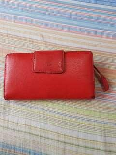 Fossil Long Wallet (RED)