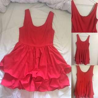 Red dress size 10 perfect condition