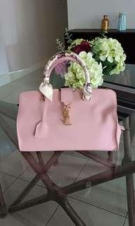 Saint Laurent YSL Monogramme Cabas Small Tote Pale Pink