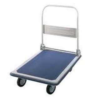 150KG Folding Platform Hand Truck Trolley Cart Transport Flat Bed (Grey/Blue)