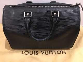 Authentic Louis Vuitton Speedy Black 25 Epi Leather