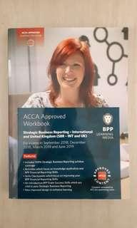 BPP ACCA APRROVED WORKBOOK STRATEGIC BUSINESS REPORTING SBR INT AND UK