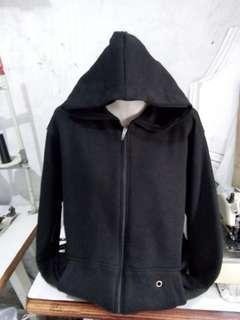 Jacket Hoddie Zipper Black Polos