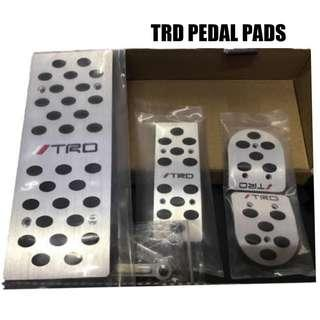 TRD Pedal Pad Aluminum Universal for Toyota Car MT with Footrest