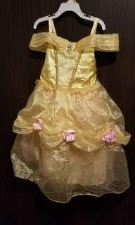 Disney Belle Costume Size 4, crown and shoes