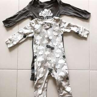 Authentic carter's boy slp suit 2 pcs available