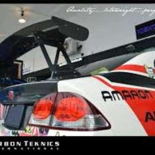 Final Clearance. Last 2 sets. Js Racing GT wing For civic FD accord cl7 integra dc5 lancer cs3