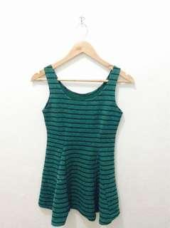 Trendy Green stripe top