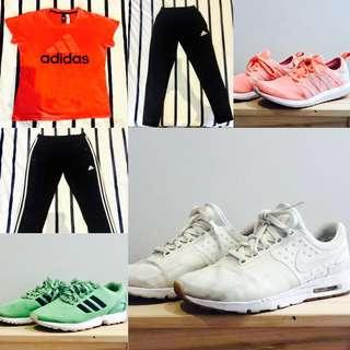 Active Wear/ Sneakers size SMALL / MEDIUM/ US women's 9