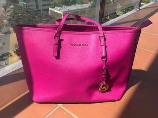 Authentic Michael Kors in Pink tote bag