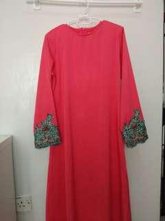 Jubah pink size s