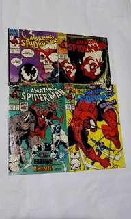 AMAZING SPIDER-MAN 344, 345, 346, 347 Venom , 1st appearance Cletus Cassidy