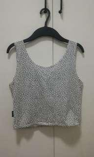 Printed Sleeveless Crop Top