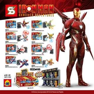 SY™ 1169 Iron Man 8in1 Hall of Armor Combine