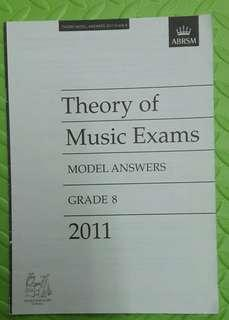 ABRSM Theory of Music Exams grade 8 model answers 2011