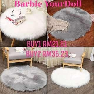 Soft Faux Fur Rug Household Bedroom Warm Mat