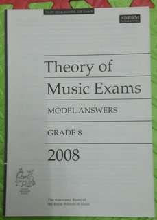 ABRSM Theory of Music Exams Grade 8 model answers 2008