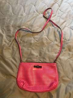 Marc Jacobs bright pink crossbody purse