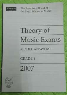 ABRSM Theory of Music Exams Grade 8 model answers 2007