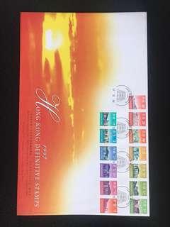 香港通用郵票過渡期結日封
