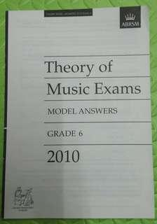 ABRSM Theory of Music Exams Grade 6 model answers 2010
