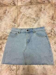 F21 jeans skirt