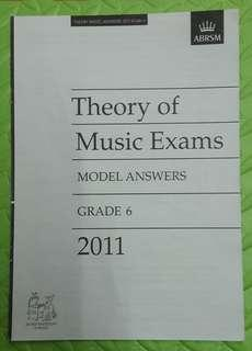 ABRSM Theory of Music Exams Grade 6 model answers 2011