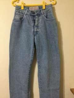 🚚 【古著】義大利pop84 淺藍高腰牛仔褲