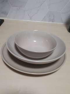 Urgent Sale: 3 Pc Ikea Plate and Bowl Set