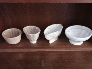 Antique porcelain Jelly Molds