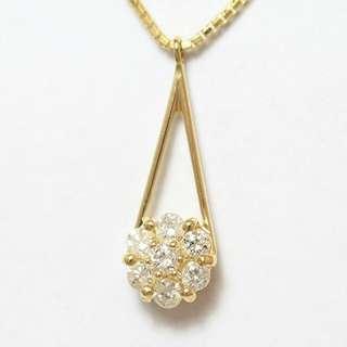 0.2 cts - 18k Diamond Necklace (Chain & Pendant)