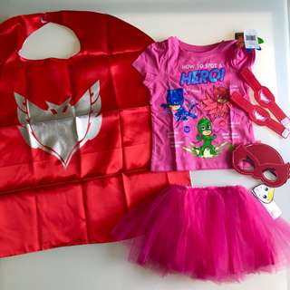 6445adc4ab55 Girl Pj mask Owlette Halloween costume