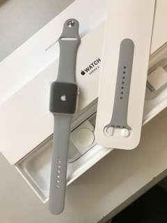 Brand new Apple Watch S3 GPS 42mm Silver Aluminum Case Fog Sport Band, Warranty date 13-9-2019