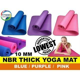 Yoga matts 10mm