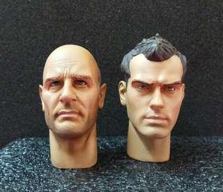 "TOYS CITY 12"" 1/6 Headsculpts 頭雕 Enemy at the Gates 敵對邊緣 TC 9003 Erwin Konig (Ed Harris) TC 9004 Vassili Zaitsev (Jude Law)"