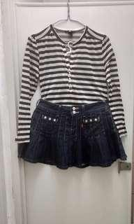 Levis skirt and H&m top