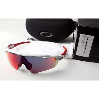 NEW Oakley Radar EV Path Polished White w/ Positive Red Iridium Lens