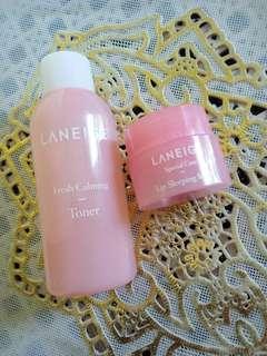 Laneige Fresh Calming Toner & Lip Sleeping Mask bundle