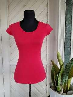 Body Fit Red Shirt