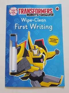 Transformer robots Wipe-clean First Writing